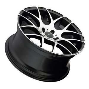 "18"" Avant Garde M310 Style Black Machined Wheels Rims Fits VW Jetta 1992 2005"