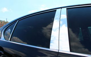 Audi A6 98 04 Chrome Door Pillar Covers Polycarbonate Mirror Post Parts