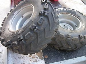 2007 Honda Rancher TRX 420 ES Rear Rims Wheels 24X10 11 Tires