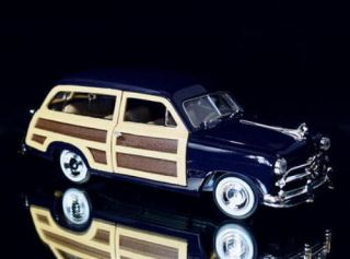 1949 Ford Woody Motormax Diecast 1 24 Scale Navy Blue