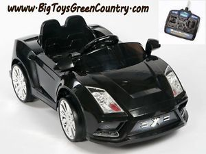 Lamborghini Style Black Ride on Kids Electric Power Wheels Car Remote Controlled