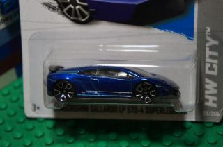 Hot Wheels Purple Blue Lamborghini Gallardo LP 700 4 HW City 29 Night Burnerz