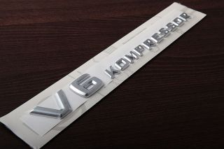 Genuine Mercedes Benz V6 Kompressor Side Fender Emblem R170 SLK32 AMG W203 C32