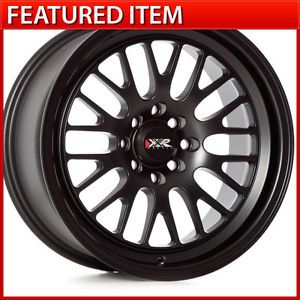 XXR 531 16 16x8 4 100 4 114 3 20 Flat Black Wheels Rims Honda Civic Integra XB