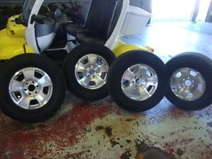 "Used Chevrolet Tahoe 17"" Wheels Rims Tires Suburban Sierra Yukon Avalanche"