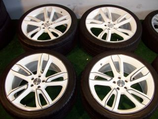 22 Ace Scorpio Wheels White BMW x5 Land Range Rover Tires Sport E53 HSE LR2 LR3