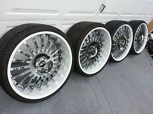 "22"" Forgiato Andata Staggered Wheels Rims Tires Audi Mercedes Maybach Donk"