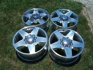 "20"" Chevy Silverado 8x6 5 GMC Sierra 2500HD Factory Wheels Polished"