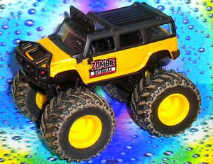 Custom Zombie Outbreak Response Team Hummer Monster Jam Truck Hot on Wheels Base