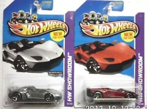 2013 Hot Wheels Zamac Lamborghini Aventador J Basic Line Lambo J '13 New Models