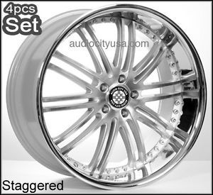 22inch x23 Sil for Mercedes Benz Wheels C CL s E S550 ml Rims Staggered