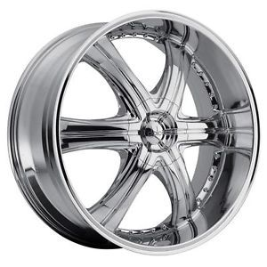 20 inch 20x8 5 Dolce DC28 Chrome Wheels Rims 6x5 5 4 Runner FJ Cruiser Hummer H3