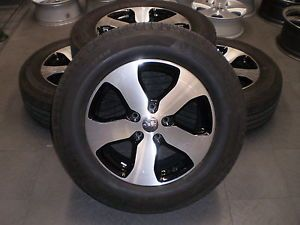 "9105 Jeep Grand Cherokee 18"" Factory OE Wheels Rims and Tires Michelin Black"