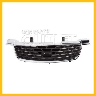 2000 2003 Nissan Sentra Chrome Grille Shell NI1200190 Black Body Insert CA GXE