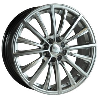 "15"" Diamond Velocity 4 Silver Alloy Wheels for Kia Picanto 07 on 6 5J 4 100 ET38"