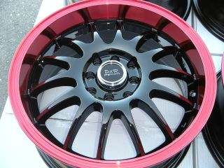 16 DXR Red Wheel Rim Aveo Yaris Civic Integra Accord Integra Cube Cobalt Tiburon