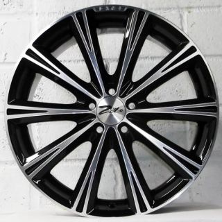 "18"" Seat Ibiza 2008 2011 Models Zito CRS Polished Alloy Wheels 5x100"