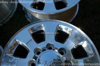 "2012 GMC SIERRA18"" Polished Wheels Chevy Silverado 2500 3500 Factory"