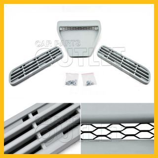 2008 2011 Mitsubishi Lancer Evolution Hood Grille 3 Piece Set GSR Mr Touring RS