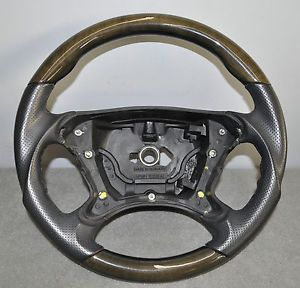 Mercedes Benz Steering Wheel Leather Wood SL500 SL550 R230