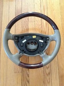 Mercedes Benz E Class W211 W463 Walnut Wood Stone Leather Steering Wheel New