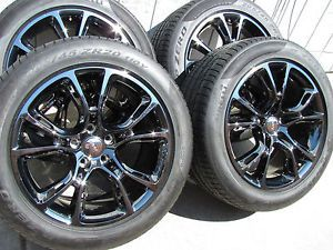 4 New 2014 Jeep Grand Cherokee SRT Vapor Wheels Tires Black Chrome SRT8