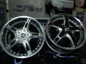 Dvinci Attivo Silver 18 inch Wheel Rims Tires Fit Nissan Toyota Kia Ford Chevy