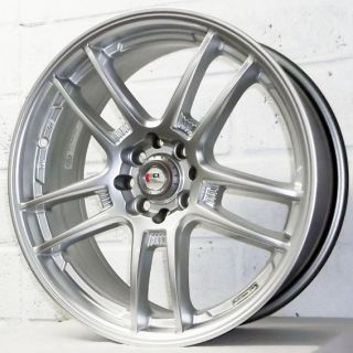 "17"" Honda Civic Aerodeck 1998 2001 Kei Racing Yari Silver Alloy Wheels 4x100"