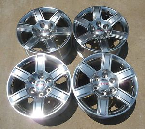 "New 2014 GMC Sierra Yukon Yukon XL Denali 18"" Polished Alloy Wheels"