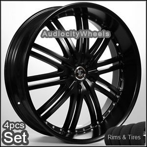 24inch Wheels and Tires Rims Chevy Ford Escalade GMC H3