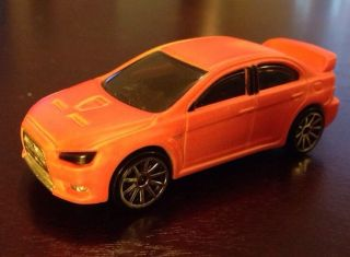 Hot Wheels Color Shifters Mitsubishi Lancer Evolution Super RARE Red to Yellow