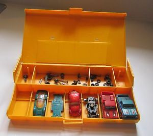 Vintage Aurora AFX HO Model Motoring Pit Case Slot Cars Parts Chasis GMC Trucks