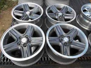 "Jeep Liberty 16"" Charcoal Alloy Wheel Rims Set Nice"