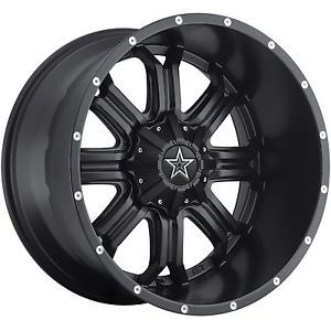 "18"" Black Tis 535 Wheels Rims Jeep Wrangler JK Comander Cherokee Chevy 1500 GMC"
