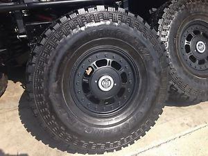 "Hummer H1 Wheels and Tires 17"" 2 Piece Rims H1 Alpha"