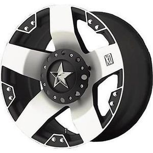 5 17x8 10 KMC XD Series Rockstar Black Wheels Rims 5x127 Jeep Wrangler JK
