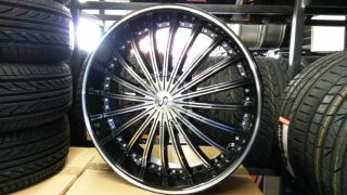 "22"" inch U2 29 Wheels Rims and Tire Fit Chevy Ford Kia Infiniti Nissan Toyota"