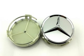 4pcs 75mm Alloy Wheel Center Caps Hub for Mercedes Benz C E s ml CLK SLK Class