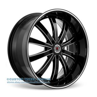 "20"" Redsport RSW77 Black Wheel Tire Package for Chrysler Dodge Ford Honda Kia"