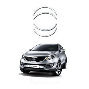 New Chrome Fender Wheel Protector Cover Molding Trim for Kia Sportage 2011 2013