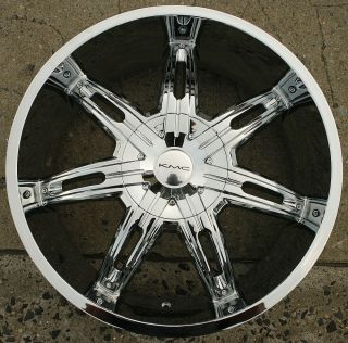 KMC Surge 665 22 x 9 5 Chrome Rims Wheels Dodge Dakota 6 Lug 97 04 6H 30