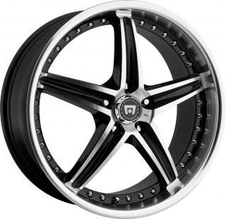 "20"" Black Motegi Racing Wheels Rims 5x4 5"" 114 3 40mm"
