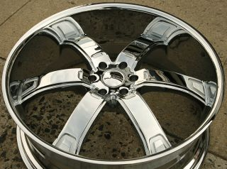 KMC Brodie KM671 24 x 9 5 Chrome Rims Wheels Dodge Dakota 6 Lug 97 04 6H 15