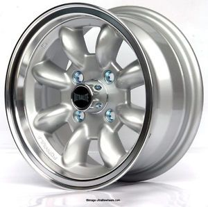 Ford Escort MK1 MK2 13x6 Minilight Alloy Wheels Silver Ultralite SPML2F