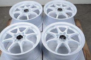 15 4x100 4x114 3 White Effect Wheels Civic Accord Yaris Integra Neon 4 Lug Rims