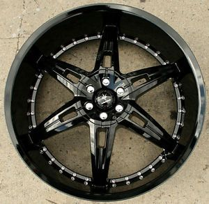 "Verde Allusion 24"" Gloss Black Rims Wheels Chevy Blazer 4WD 24 x 9 5 5H 30"
