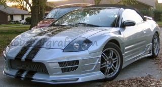 Mitsubishi Eclipse Spyder Lancer galant Racing Rally Stripe Stripes Decals