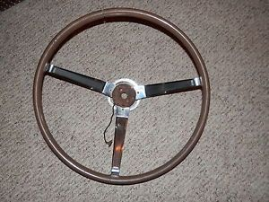 1965 1970 Pontiac GTO Tempest LeMans Woodgrain Original Steering Wheel