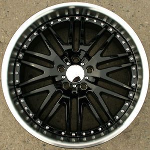 Menzari Z04 18 x 8 5 Black Rims Wheels Saab 9 3 98 Up 5H 35