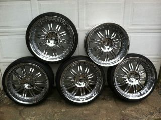 KMC 22'' Chrome Wheels and Tires